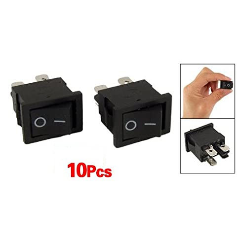 SODIAL(R) 10 Pcs x 4 Pin On-Off 2 Position DPST