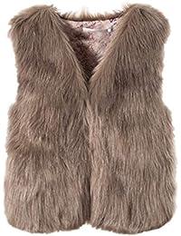 watch 0828e 98c1a Amazon.it: pelliccia ecologica - Marrone / Donna: Abbigliamento