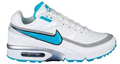 wcjph Nike Air Max Classic BW Womens White & Blue Leather Trainers UK 3