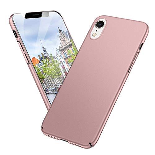 Meidom Kompatibel mit iPhone XR Hülle Ultra Dünn Schutzhülle Stoßfest Anti-Fingerabdruck Handyhülle Case für iPhone XR (6,1 Zoll) - Matt Rosegold