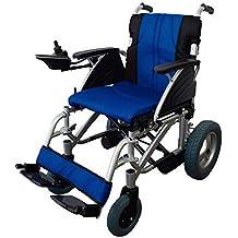 Mobiclinic Silla de Ruedas eléctrica de Aluminio | Plegable | Color Azul y Negra | Mod