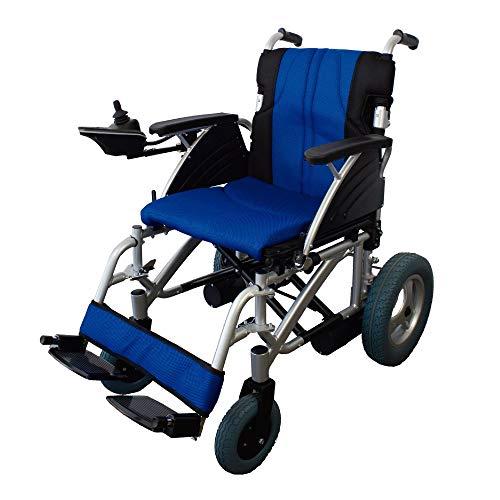 Queraltó Silla de Ruedas eléctrica de Aluminio | Plegable | Color Azul...