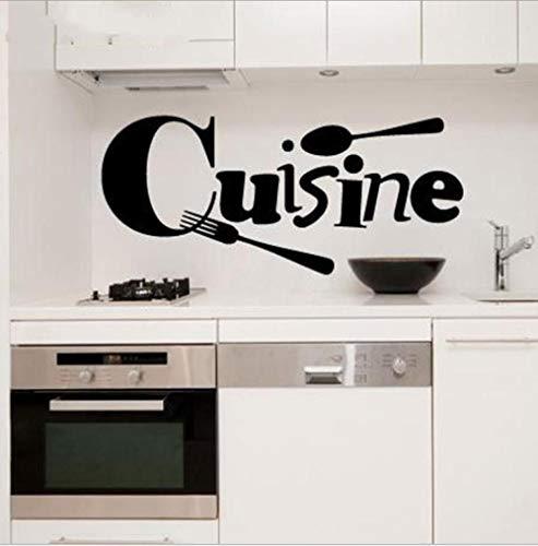 Löffel Gabel geschnitzte Wandaufkleber Küche Dekoration Aufkleber Restaurant Hintergrund Wanddekoration Malerei Aufkleber 20 * 40cm