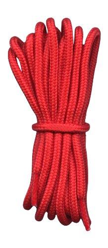 Fabmania Lacets pour Chaussures de randonnee Rouge 4mm diametre