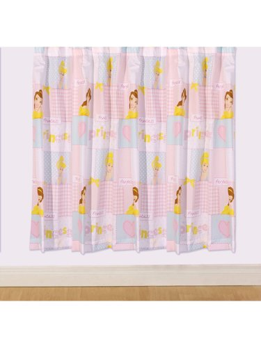 Disney Princess 2St. Fertig-Gardinen / Vorhänge-Set L 183 cm x B 168 cm Blickdicht