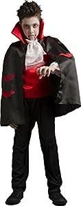CARITAN disfraz de Drácula con capa de niña en cubierta de lujo para niños (8-10años)