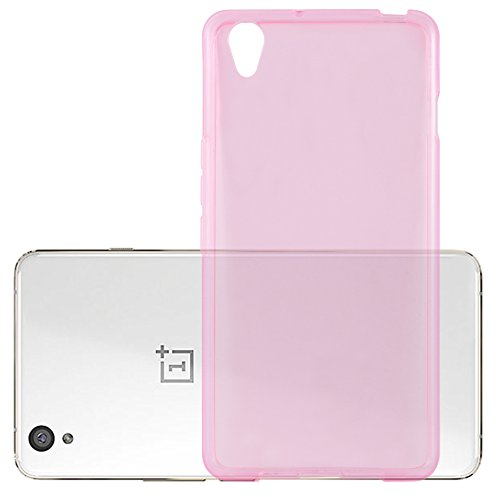 Cadorabo Hülle für OnePlus One X - Hülle in TRANSPARENT PINK – Handyhülle aus TPU Silikon im Ultra Slim 'AIR' Design - Silikonhülle Schutzhülle Soft Back Cover Case Bumper
