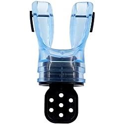 CUTICATE Détendeur De Plongée Moulable sur Mesure Ajustement Personnalisé Embout Buccal en Silicone Tuba - Bleu Clair, 11 x 5 cm