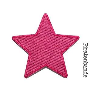 Stern Flicken Cord pink, Hosenflicken Bügelflicken für Kinder