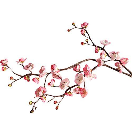 UOWEG Künstliche Kunstblume High Realistic Appearance Künstliche Seide Gefälschte Blumen Pflaumenblüte Blumen Hochzeit Bouquet Party Decor -