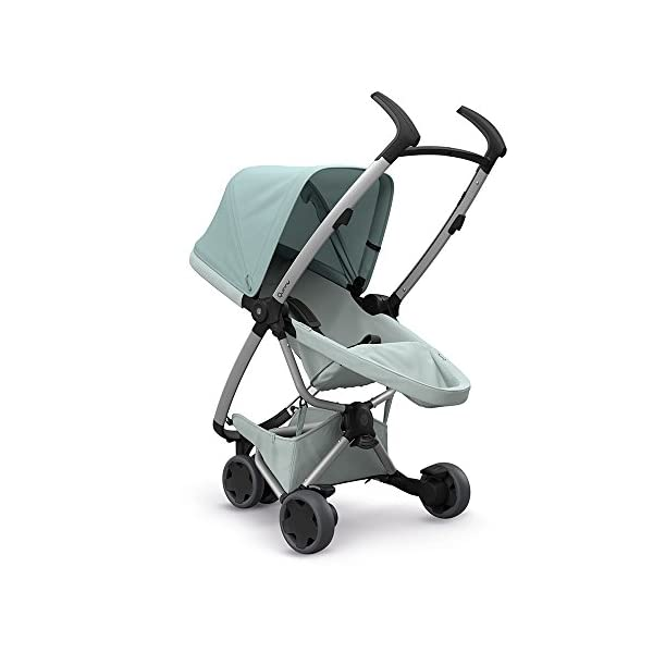 Quinny Zapp Flex Design 2018 Frost on Grey Quinny Flexible reversible seat in both Blick directions down to a horizontal lying position. Three Compact wheels - extremely manoeuvrable Classic Zapp handles - Super Strong Hold, easy to steer 3