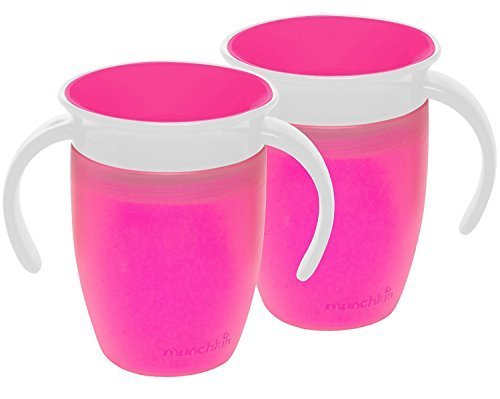Munchkin Miracle 360 Trainer Cup, Pink, 7 Ounce, 2 Count