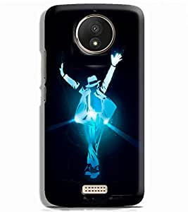 Prinvisa Michael Jackson Smooth Criminal Designer Hard Back Case Cover for Motorola Moto C+ :: Motorola Moto C Plus