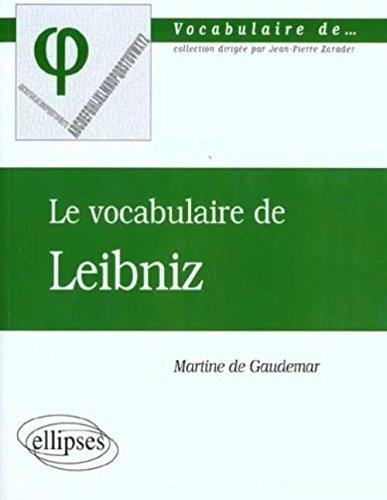 Le vocabulaire de Leibniz