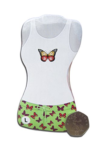 Green Magic Top Short & Pyjama, Schmetterlings-Design, S, M, L (Pjs Pyjamas Schmetterling)