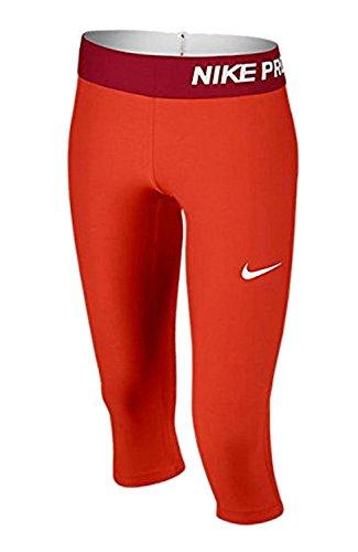 Rote Mädchen-caprihosen (Nike Mädchen Hose K-Caprihose Pro Cool Rot, S)