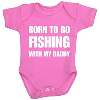 Babyprem Baby Born to go Fishing with Daddy Clothes Bodysuit NB-24 mth PINK 6-9