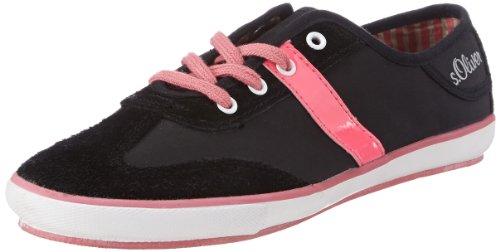 S.Oliver Casual 5-5-53220-20, Sneaker Ragazza Nero (Schwarz (Black 1))