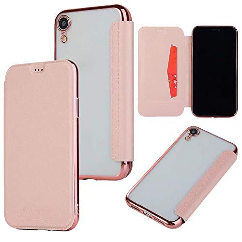 QINPIN Shock Absorption Bumper Glitter Leder Flip Case Schutzhülle für iPhone XS 5.8/XS MAX 6.5/XR...