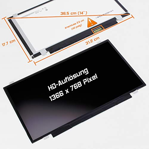 Display Screen matt Ersatz für Lenovo ThinkPad Edge E431 6277-AVU HD Bildschirm Panel ()