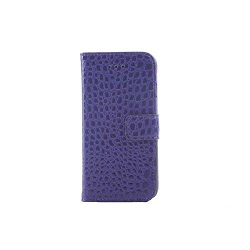 Housse de protection design Crocodile Grain PU cuir Wallet pour iPhone 6 rose