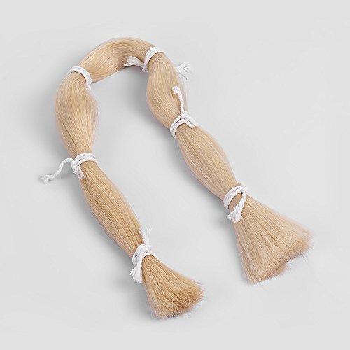 Kalaok 250g Hochwertige Rosshaar Violine Bogen Haar Natürliche Weiße Farbe Über 80 cm Lange (Bogen Violine Haar)