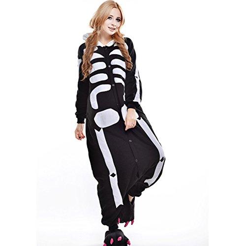 YFCH Unisex-Erwachsene Kostüm- Tierkostüm Overall Jumpsuit Einteiler Schlafanzug Pyjamas mit Kapuze, Panda, S(Körpergröße 146-159 cm