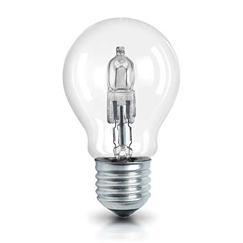 E27 dimmbar Classic A /  46W - 60 Watt-Ersatz, Halogen Birne als Kolbenlampe / klar, warmweiß - 2700K, 5er-Pack ()