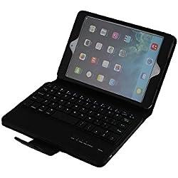 San® Clavier AZERTY Bluetooth 3.0 Étui Housse universel pour tablette 7 à 8 pouces Windows Android tactile compatible avec Apple mini, Samsung, Lenovo, Asus, Huawei, Amazon, Acer, Microsoft, Sony, LG