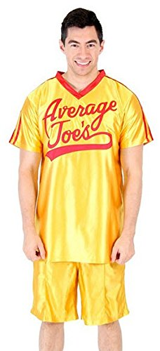 Dodgeball Average Joe's Erwachsene Gelb Jersey Kostüm Set (Large)