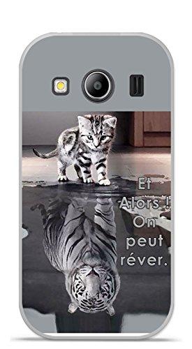 Coque TPU gel souple Samsung Galaxy Ace 4 G357 design Chat Tigre Blanc Et Alors !