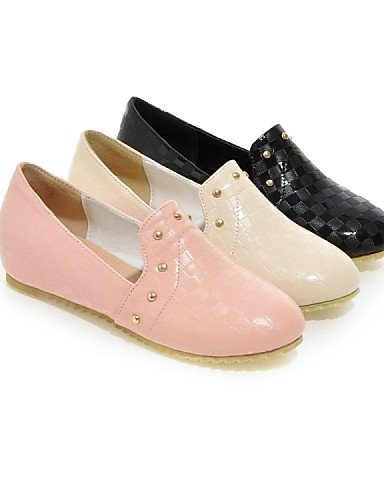 ZQ gyht Scarpe Donna - Mocassini - Tempo libero / Formale / Casual - Comoda - Piatto - Finta pelle - Nero / Rosa / Beige , black-us10.5 / eu42 / uk8.5 / cn43 , black-us10.5 / eu42 / uk8.5 / cn43 pink-us5 / eu35 / uk3 / cn34