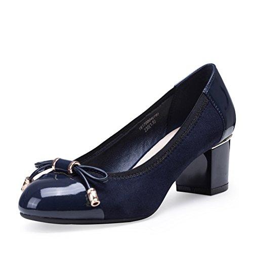 Herbst Schuhe mit Schleife/Raue Fersen/Girl Perücke Füße Schuhe-A Fußlänge=22.8CM(9Inch) (Kid Perücken)