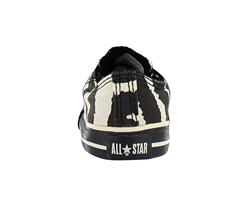 Converse All Star Chuck Taylor dei Bambini Animale Stampa Zebra Ox Scarpe Casual Black, White