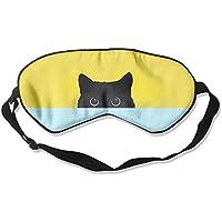 Comfortable Sleep Eyes Masks Hidden Black Cat Printed Sleeping Mask For Travelling, Night Noon Nap, Mediation... preisvergleich bei billige-tabletten.eu