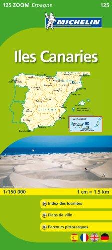 Carte ZOOM Iles des Canaries.