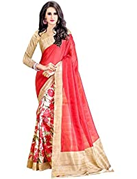 Tagline Artificial Silk/Cotton/Silk Saree (Tag30043_Red)