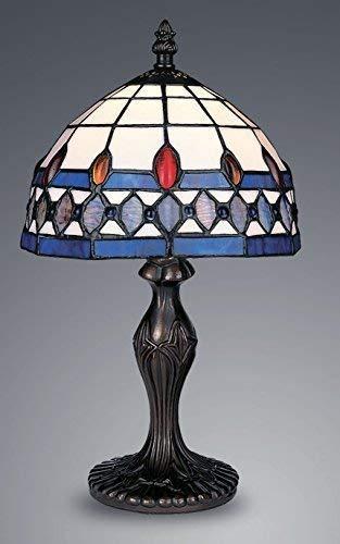 TIFFANY STIL EINZIGARTIGE GEFÄRBTES GLAS SCHREIBTISCH TISCH LAMPE - G081119 -