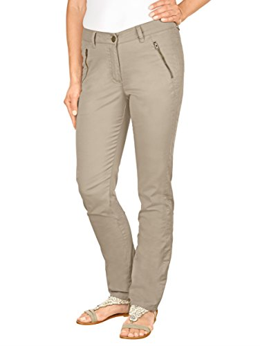 Damen Hose Laura Slim in leichtem Twill by Laura Kent Beige