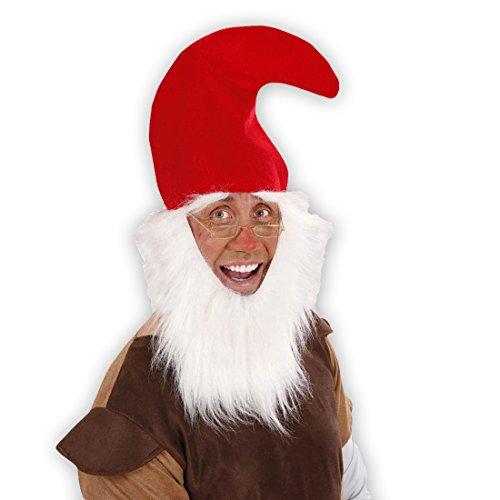 rt Roter Zwerg Mütze Zwergen Zipfelmütze Vollbart Wichtelmütze Weihnachten Gnom Hut Elfen Fantasy Mottoparty Accessoire Karneval Kostüm Zubehör (Elfen-hut)