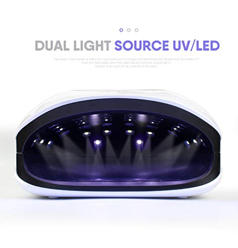 72W LED UV Lamps For Gel Nail Dryer,Infrated Sensing/LCD Monitor/Professional Nail Curing Light,10/30/60/90s Time Img 2 Zoom
