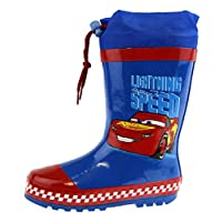 Disney Cars Tie Top Wellington Boots Blue