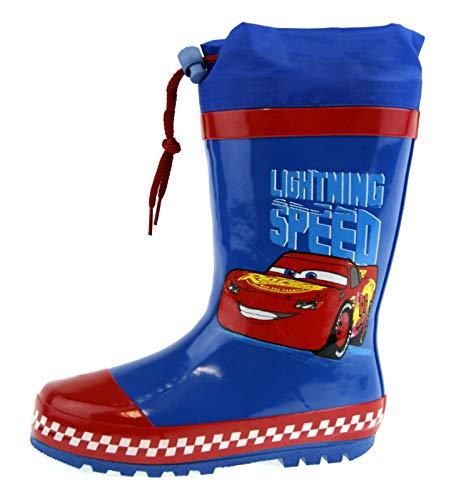 Disney Cars Tie Top Wellington Boots Blue