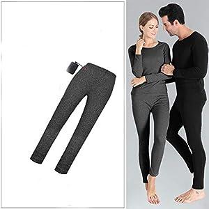 LanXi Beheizte Unterwäsche, USB Lade Elektrische Beheizte Körperwärmer Daunenweste, Wiederaufladbare Thermische Kapuzenweste mit 3 Heizstufen