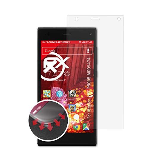 atFolix Schutzfolie passend für Medion Life P5005 MD99474 Folie, entspiegelnde & Flexible FX Bildschirmschutzfolie (3X)