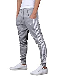 Gillbro para hombre Joggers pantalón de gimnasia pantalones del chándal de culturismo,G,S