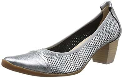 Un Matin d'Eté Epika, Chaussures de ville femme - Argent (Me Pacha F Per Dia/Me Pach Noir), 36 EU (3 UK)