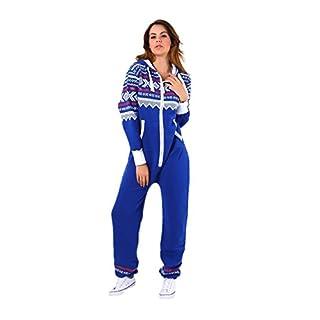 Parsa Fashions ® New Womens Ladies Aztec Print Hooded Zip Up Onesie Jumpsuit Plus Sizes S-XXXXL Sizes UK 8-22