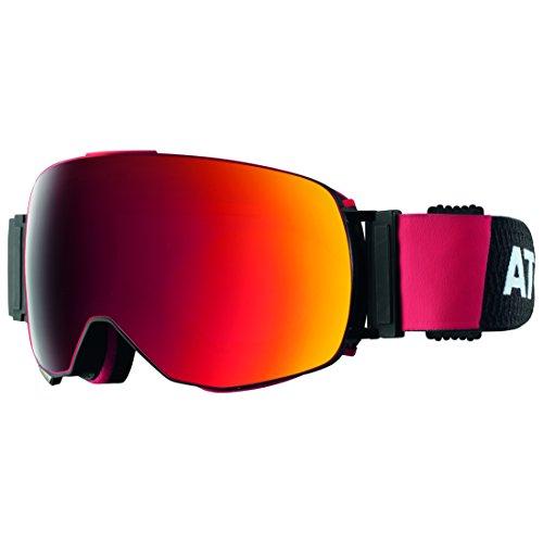 Atomic AN5105362 Occhiali da Sci, Nero/Rosso, Taglia Unica