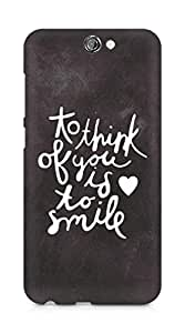 AMEZ to think of you is to smile Back Cover For HTC One A9